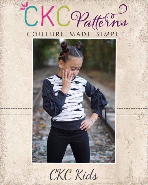 Genesis' Knit Top Sizes 2T to 14 Kids PDF Pattern