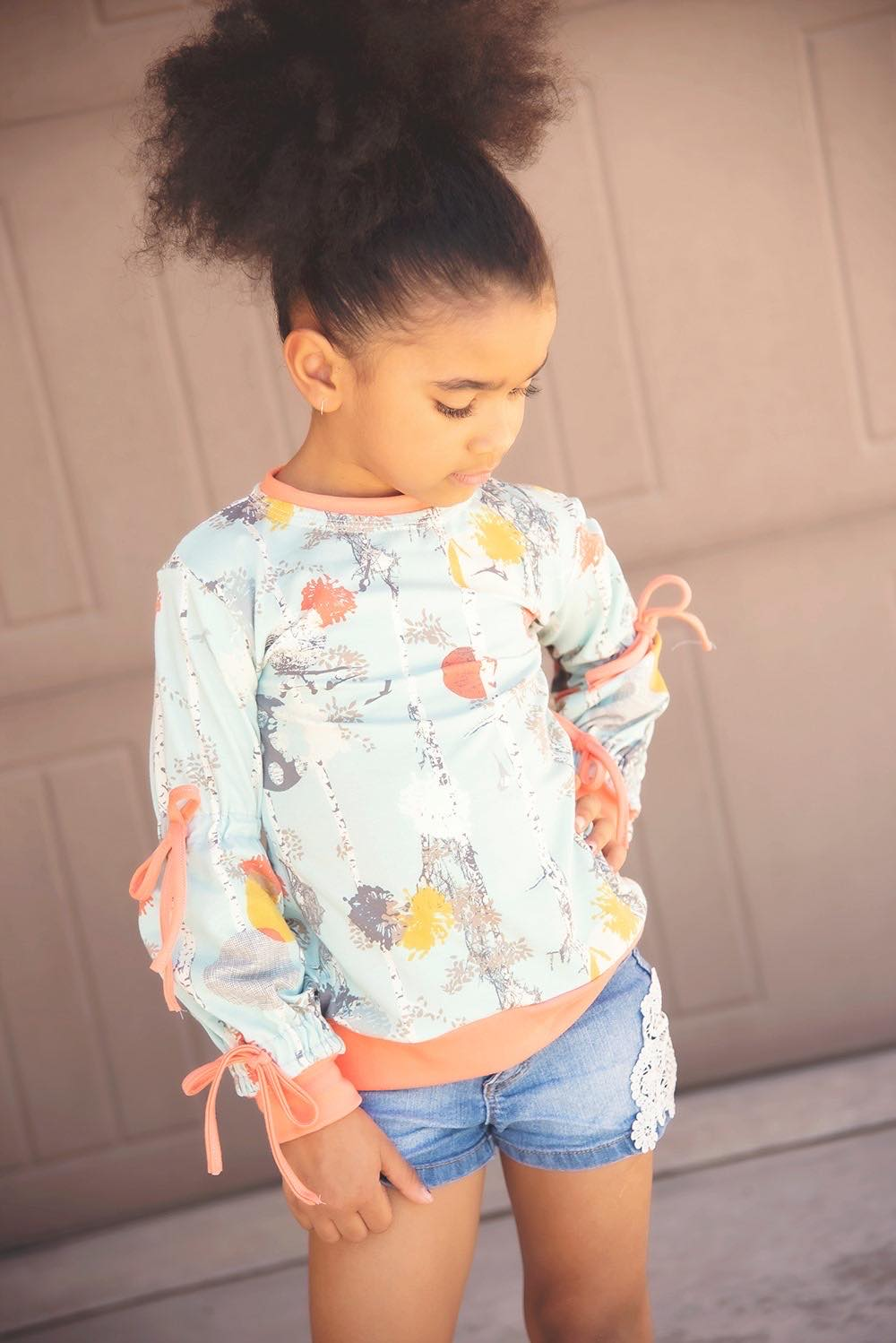 Genesis' Knit Top Sizes 2T to 14 Kids PDF Pattern