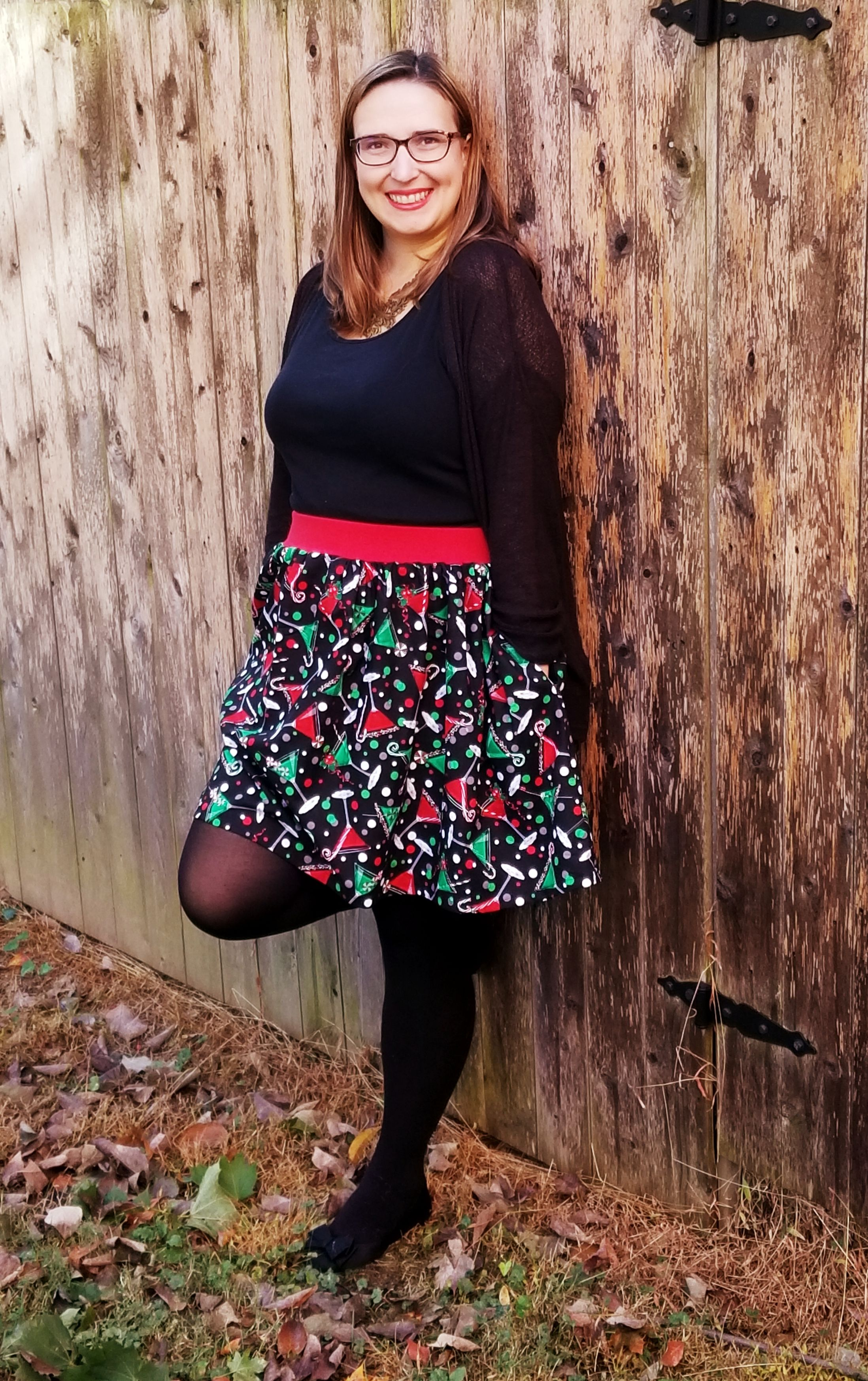 Northgate's Knit & Woven Gathered High-Low, Curved & Straight Hem Skirt Sizes XXS to 3X Adults PDF Pattern