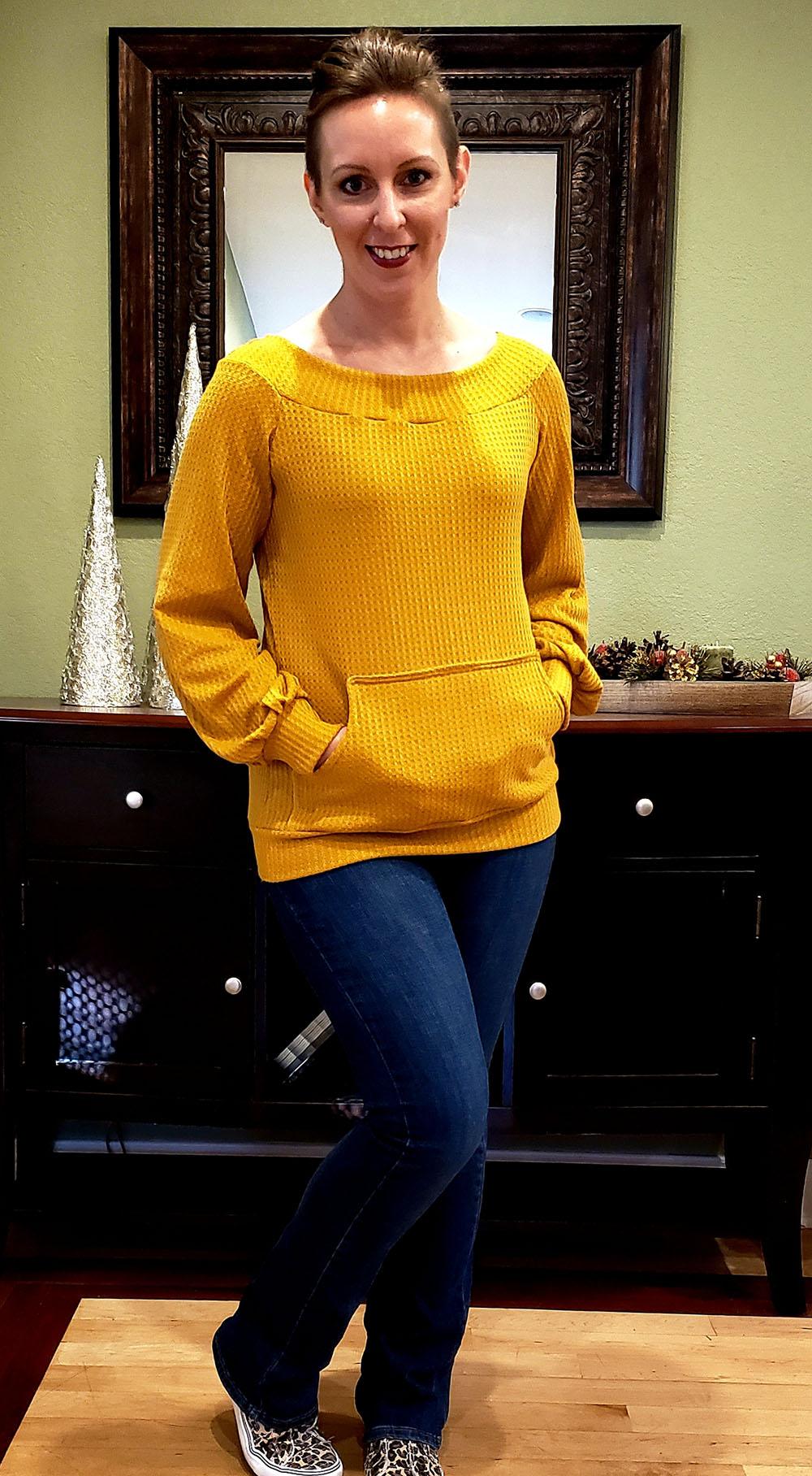 Serenity's Puff Sleeve Sweater Sizes XXS to 3X Adults PDF Pattern