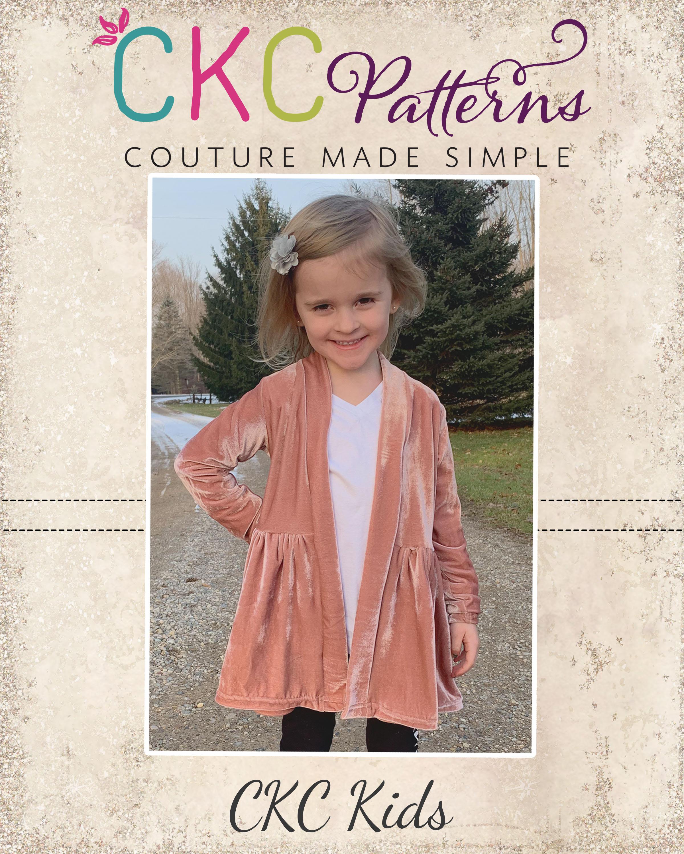 Susan's Swing Cardigan Sizes 2T to 14 Kids PDF Pattern
