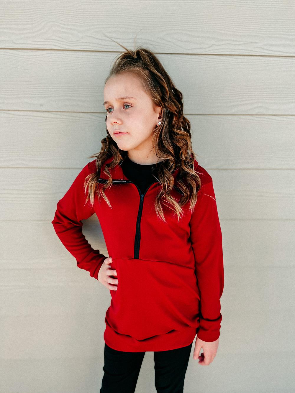 Liana's Half-Zip Pullover Sizes XXS to 3X Adults PDF Pattern