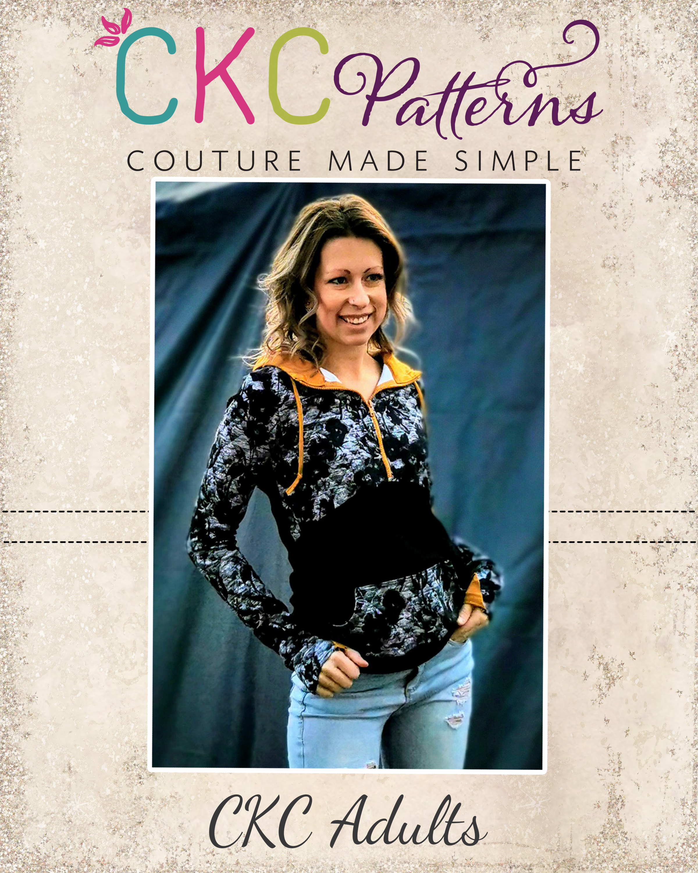 Liana's Half-Zip Pullover Sizes XXS to 3X Adults PDF Pattern