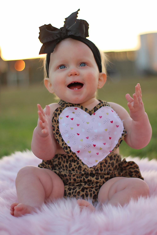 Calla's Valentine's Romper Sizes NB to 4T Kids PDF Pattern