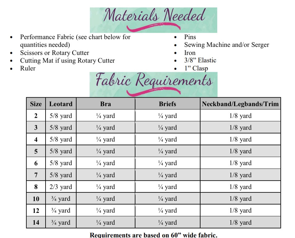 Rhyot's Legendary Leotard Sizes 2T to 14 Kids  PDF Pattern