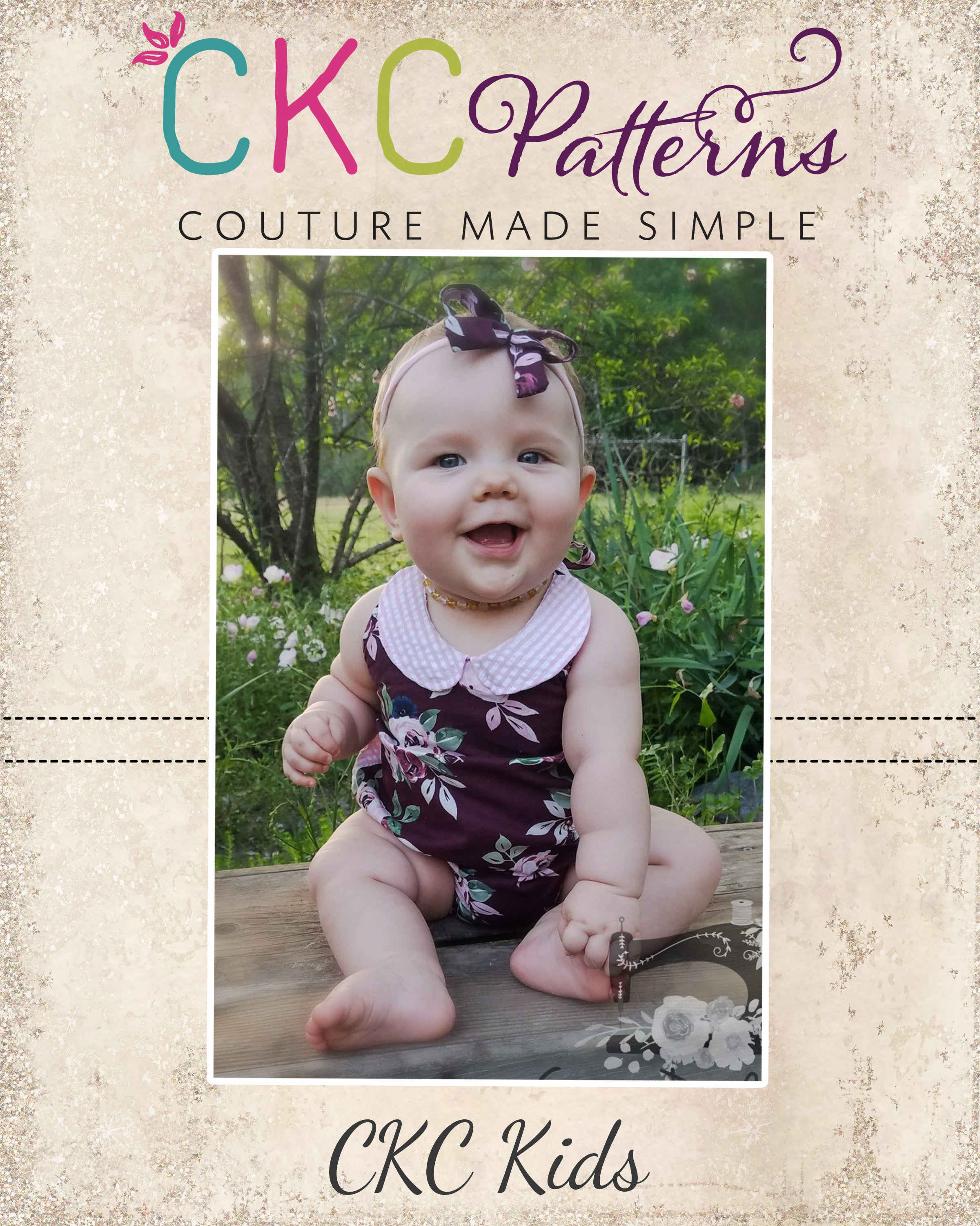 Suki's Boutique Halter Romper Sizes NB to 4T Kids PDF Pattern