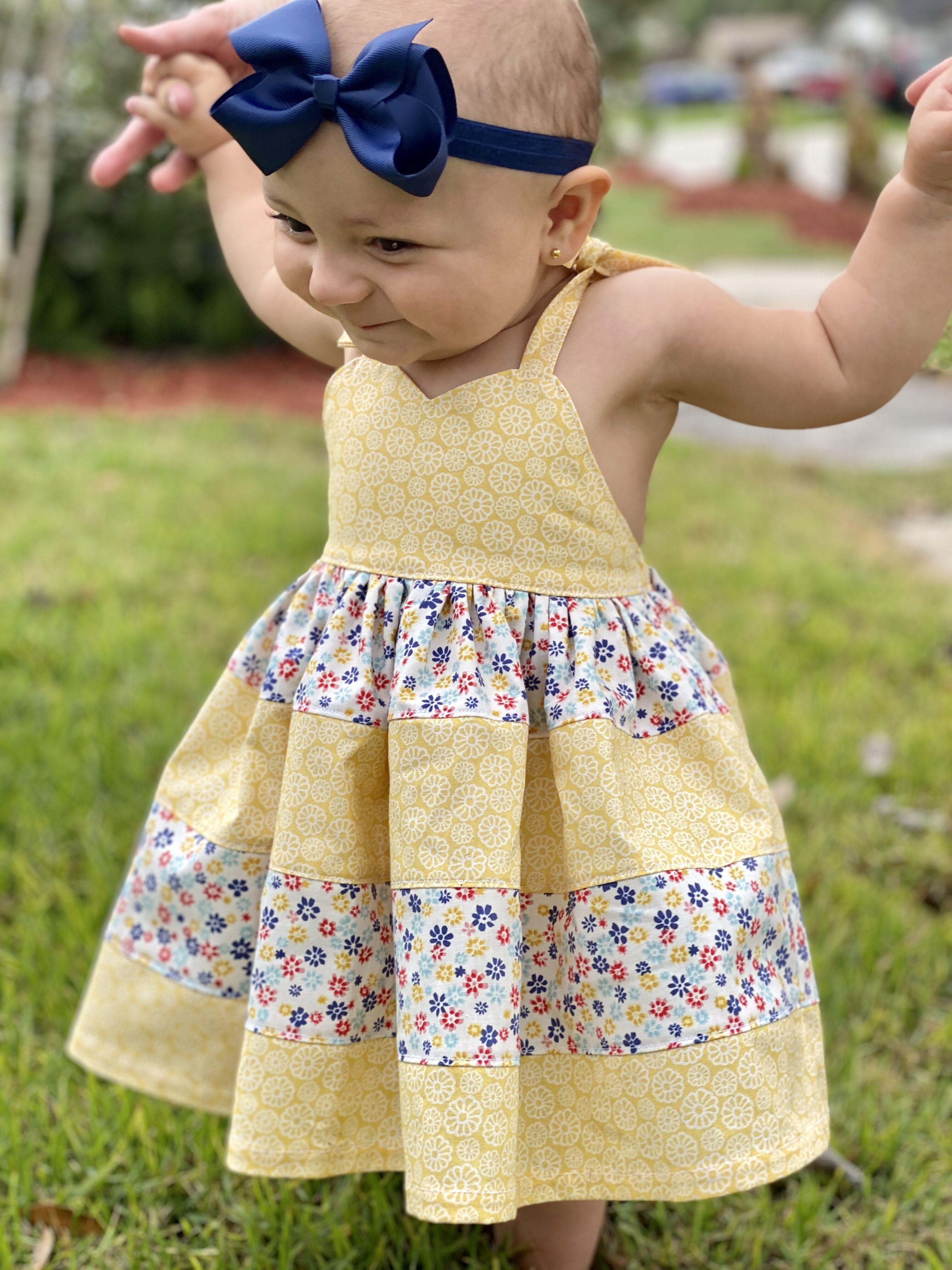 Esme's Heart Dress Sizes NB to 14 Kids PDF Pattern