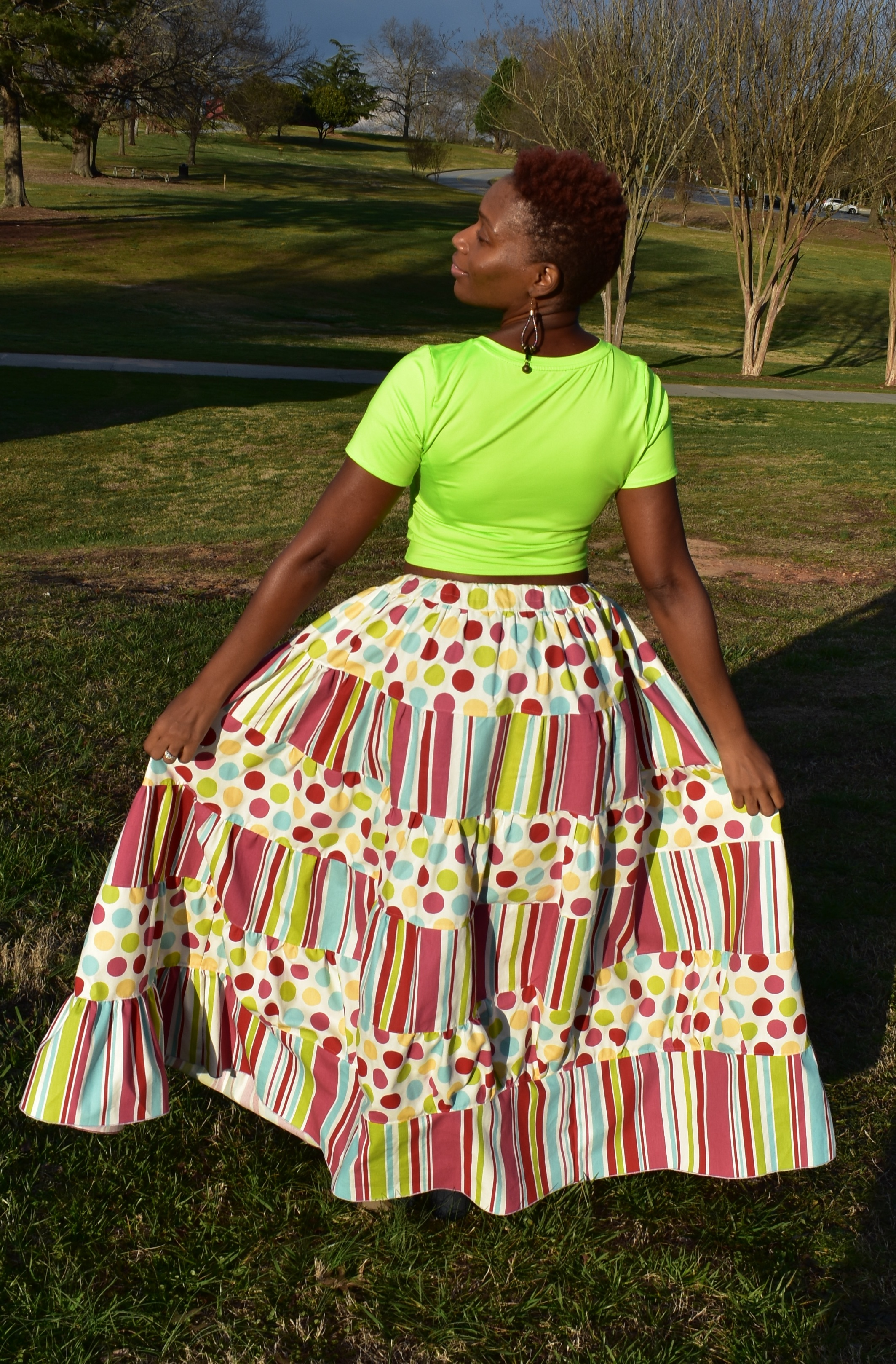 Prism Rainbow Skirt Sizes XXS to 4X Adults PDF Pattern