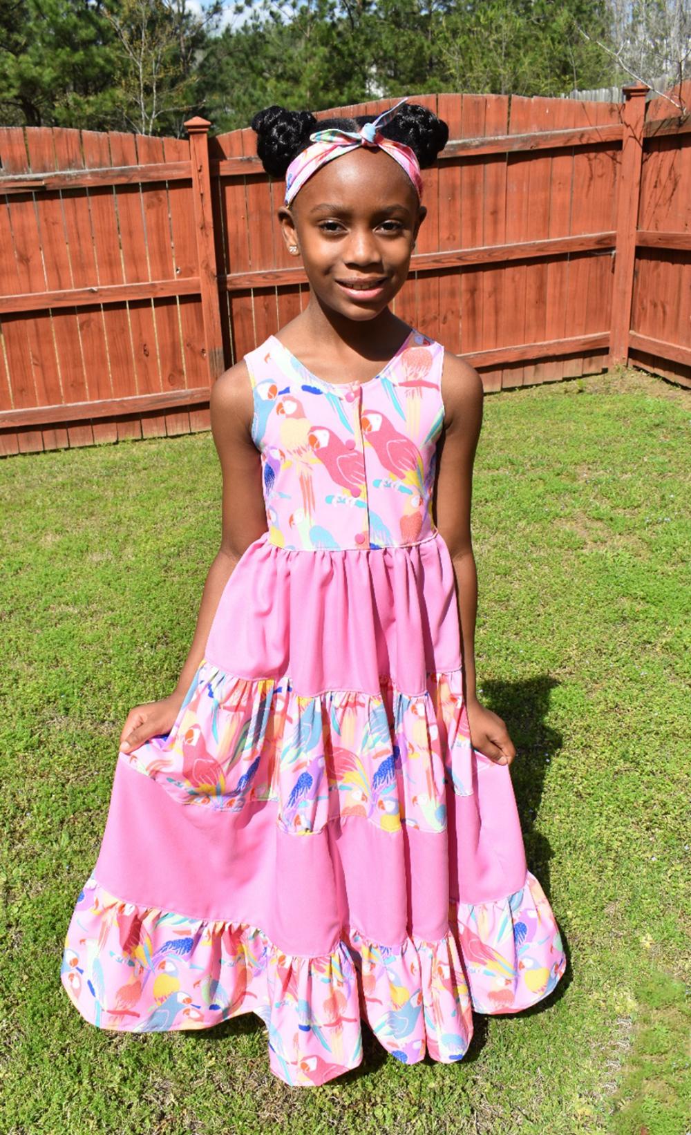 Kingsley's Maxi Dress Sizes 2T to 14 Kids PDF Pattern