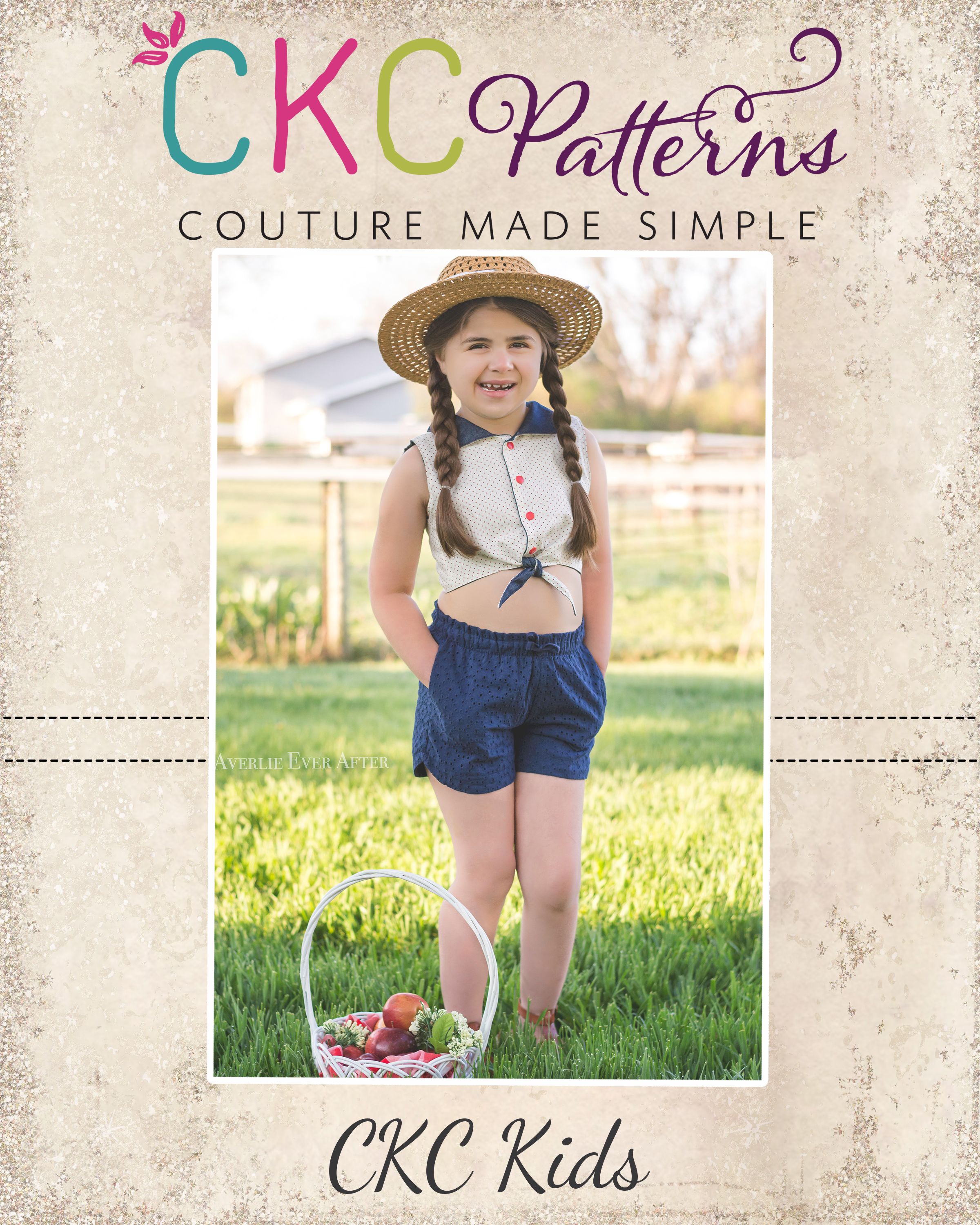 Sunshine's Tie Front Top Sizes 2T to 14 Kids PDF Pattern