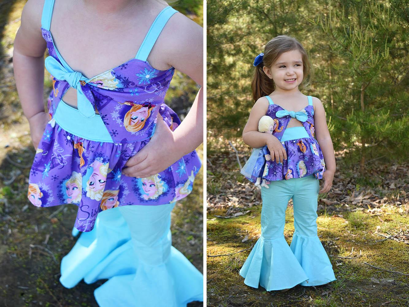 Arizona's Peek-a-Boo Dress Sizes 2T to 14 Kids PDF Pattern