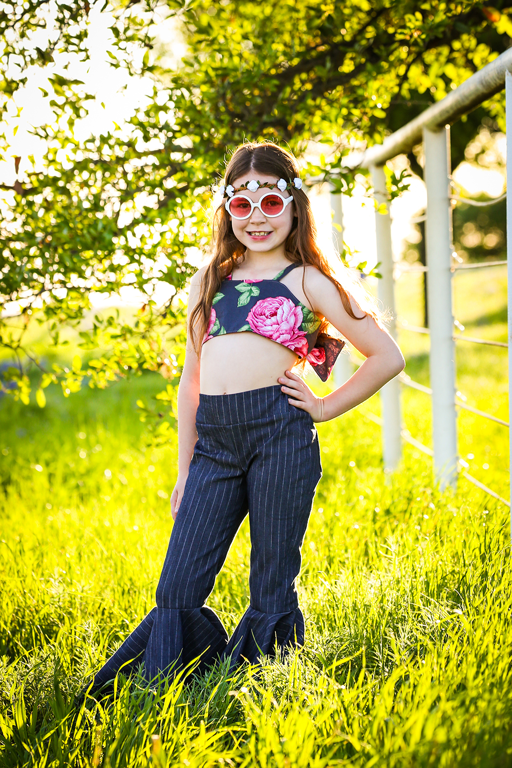 Terra's Ruffle Crop Top  Sizes NB to 14 Kids PDF Pattern