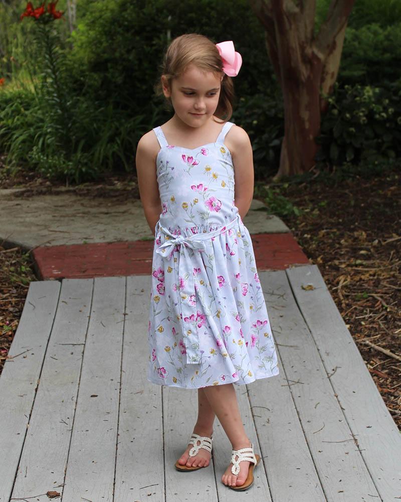 Liberty's Culottes Romper Sizes 2T to 14 Kids PDF Pattern