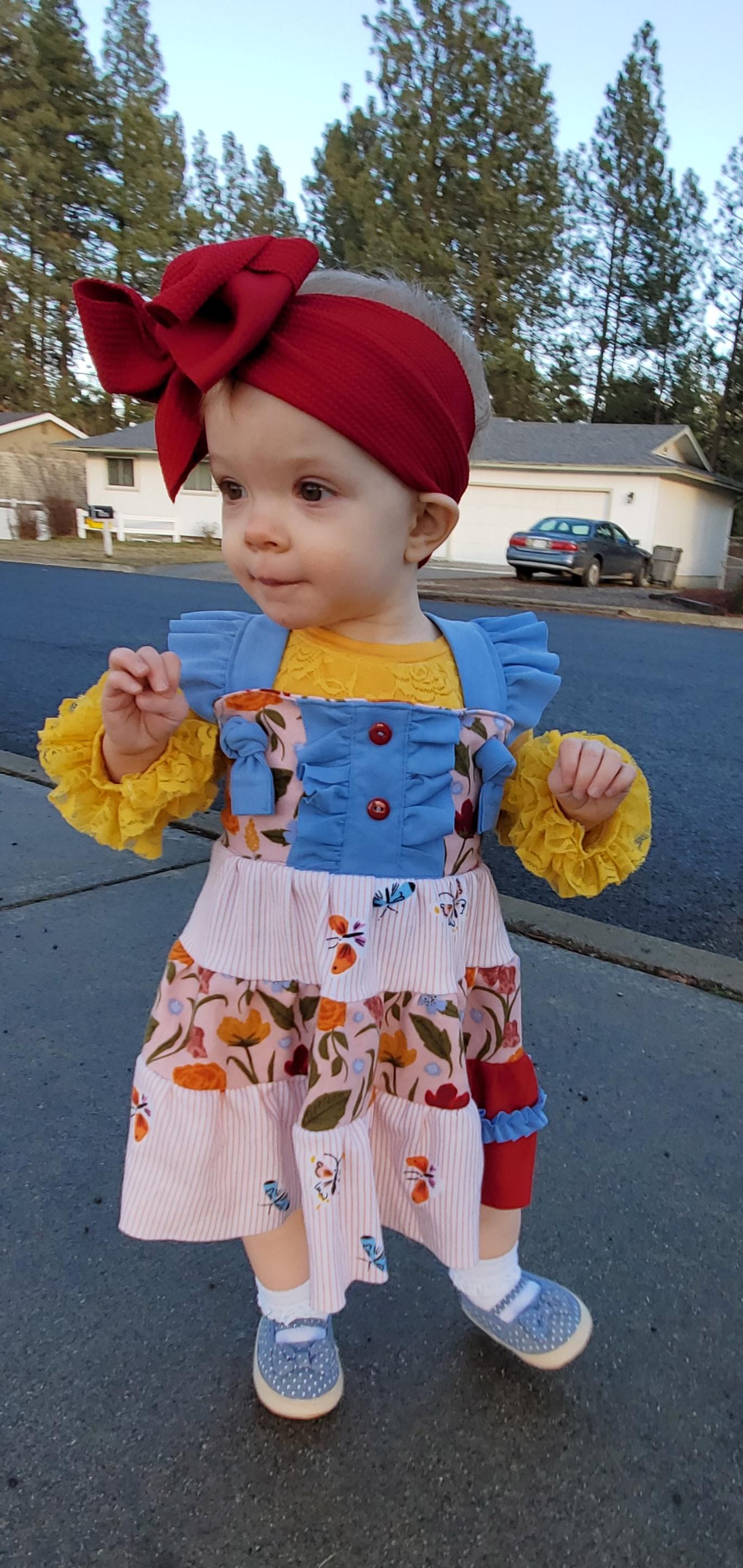 Itzy's Knit Knot Dress Sizes NB to 14 Kids PDF Pattern
