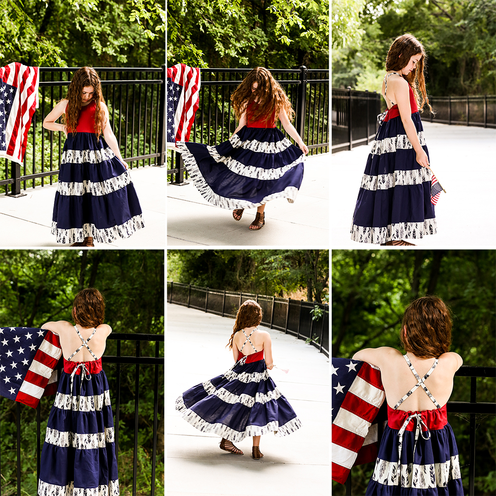 Centennial's Open Back Dress and Maxi 2T to 14 Kids PDF Pattern