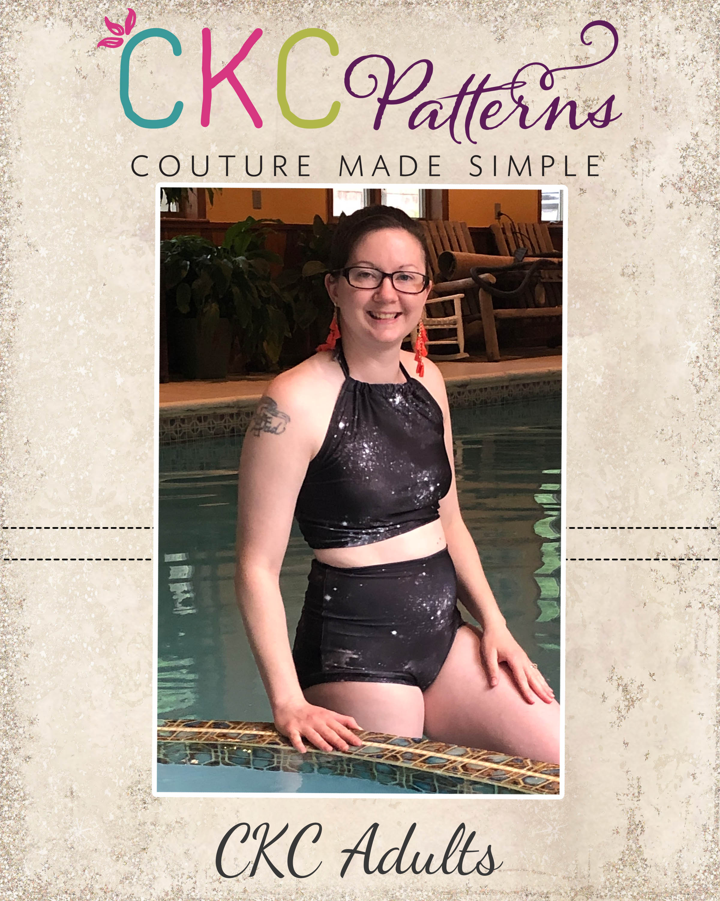 Olive's Old Fashioned Bikini Sizes XXS to 3X Adults PDF Pattern
