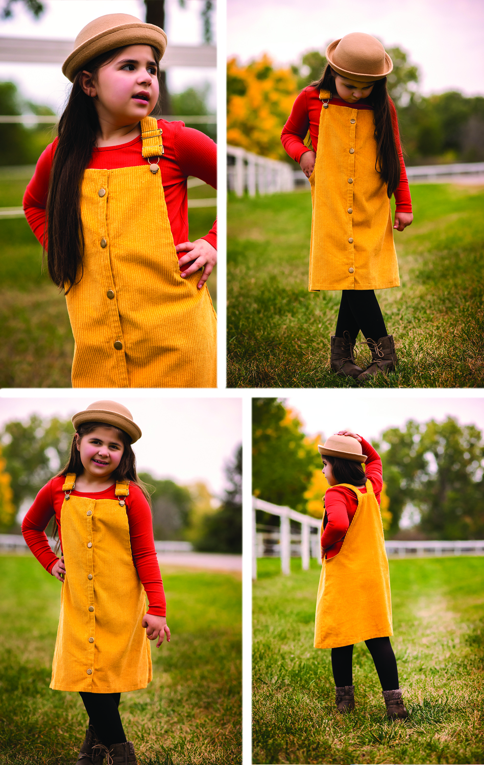 Alanis' Buttondown Overall Jumper 2T to 14 Kids PDF Pattern