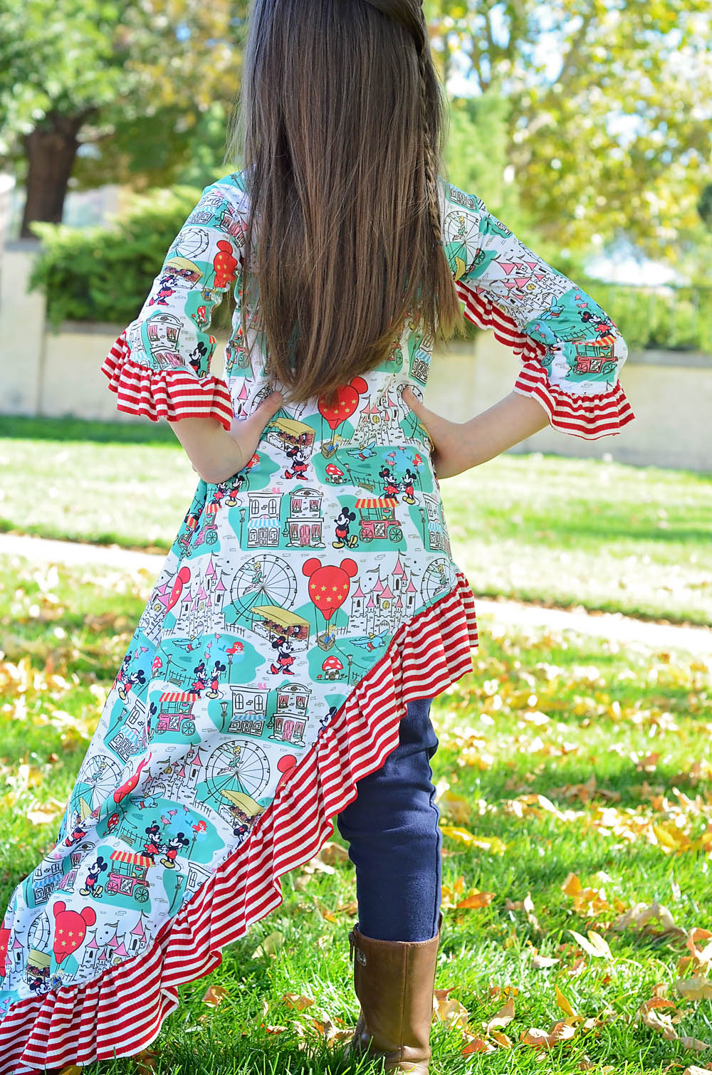 Taylee's Tee, Tunic and Asymmetrical Maxi Sizes 2T to 14 Kids PDF Pattern