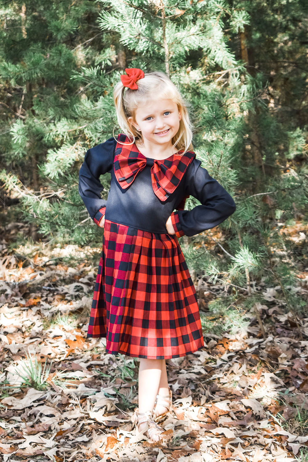 Fancy's Bow Collar Pleated Dress Sizes 2T to 14 Kids PDF Pattern