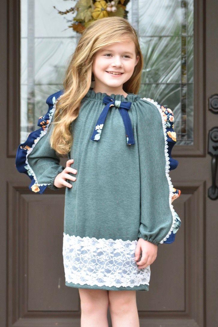 Rosalinda's Ruffled Peasant Top and Dress Sizes 2T to 14 Kids PDF Pattern