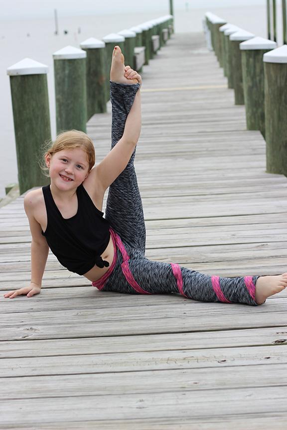 Lolly's Pop Stripe Leggings Sizes 2T to 14 Kids PDF Pattern