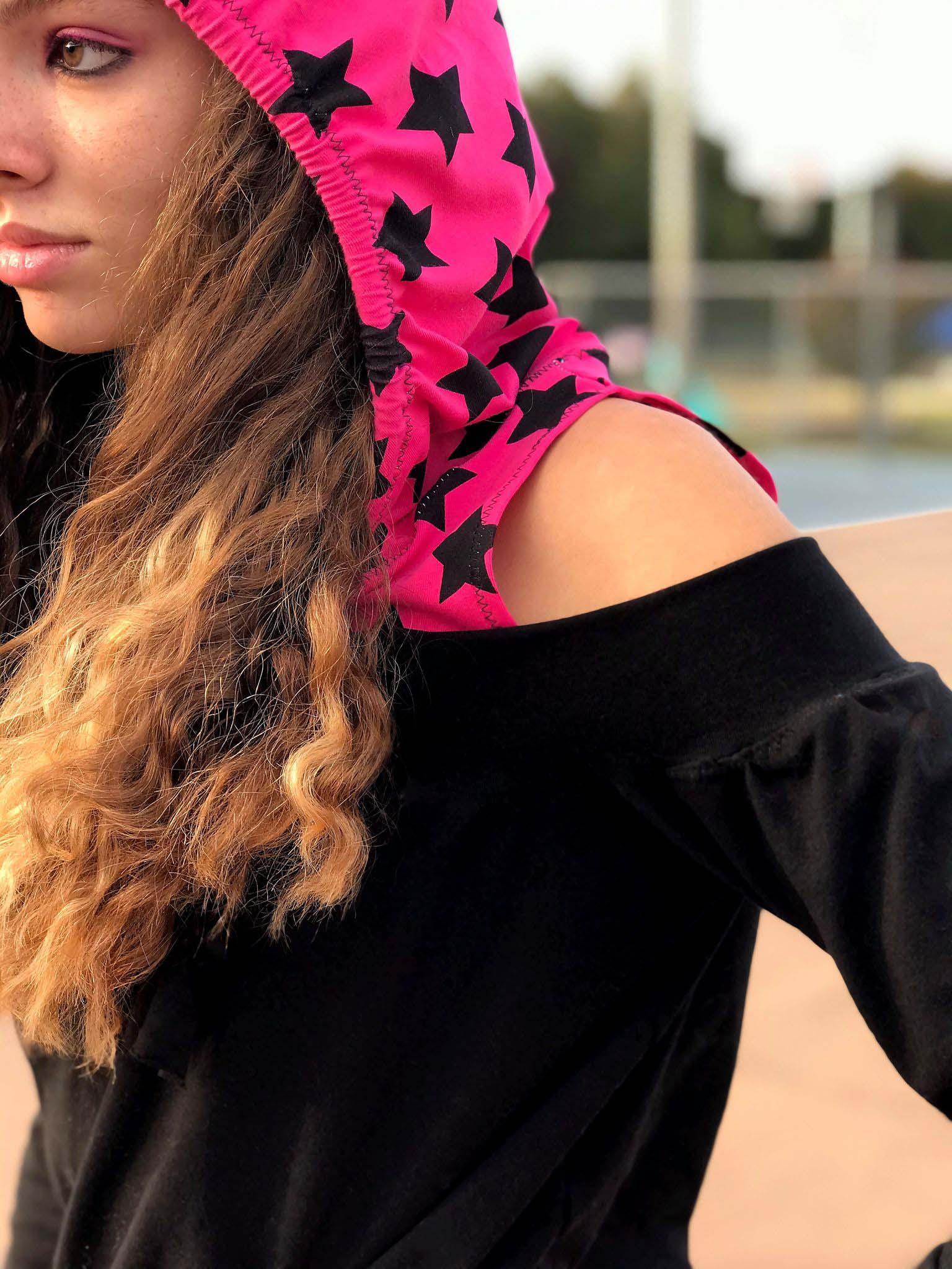 Houstyn's Cold-Shoulder Hoodie Sizes XXS to 3X Adults PDF Pattern