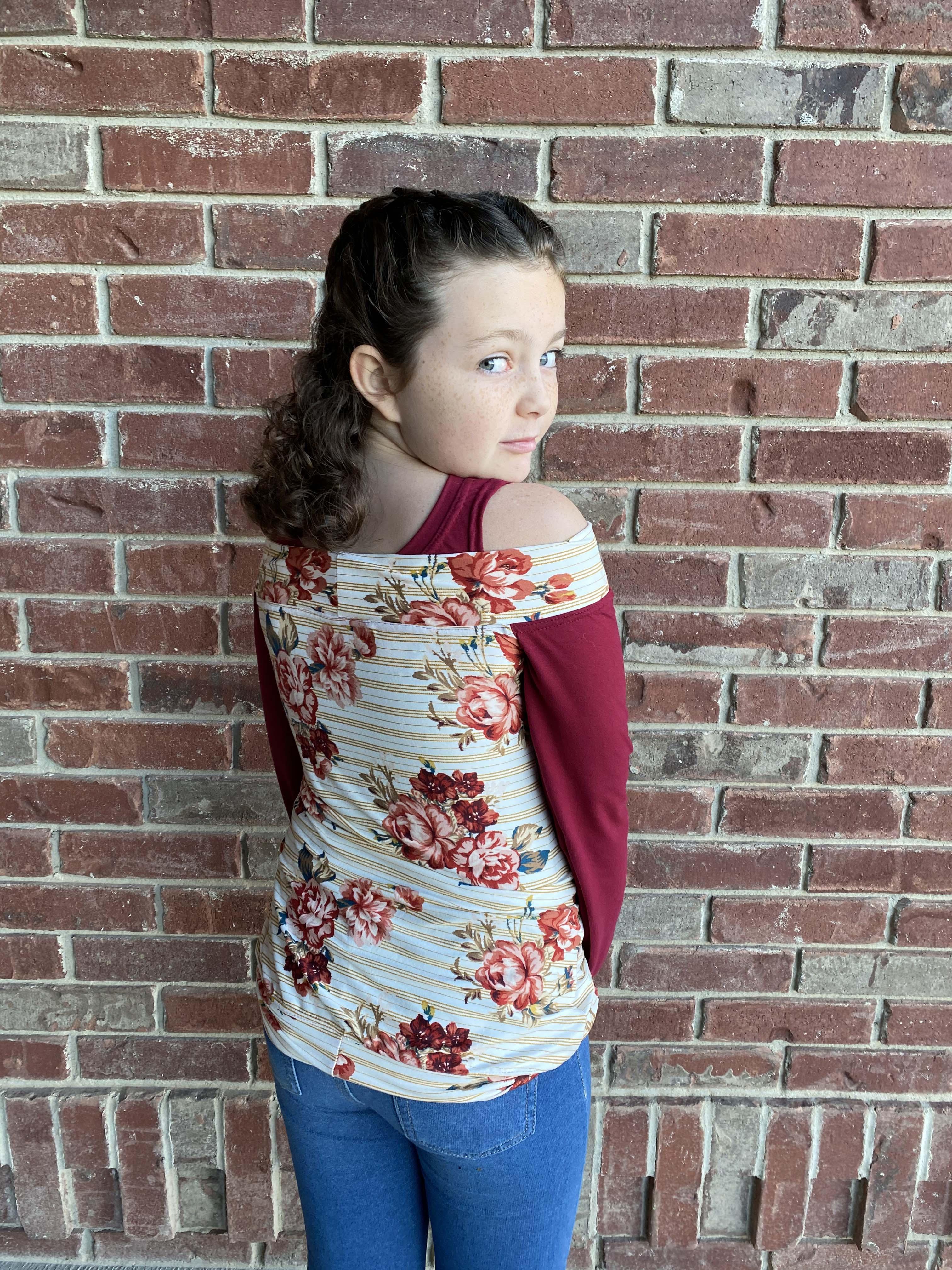 Houstyn's Cold-Shoulder Hoodie Sizes 2T to 14 Kids PDF Pattern