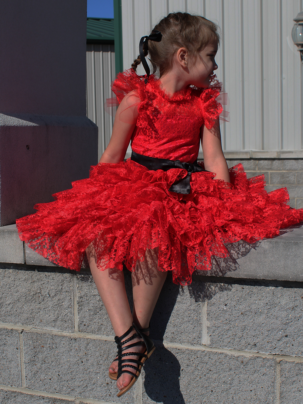 Lizzy's Lace Special Occasion Dress Sizes 2T to 14 Kids PDF Pattern