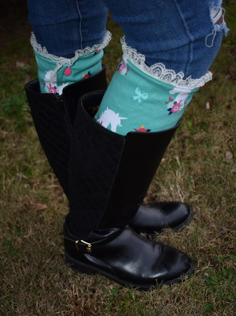 Sierra's Boot Cuffs in Sizes Kids and Adults PDF Pattern