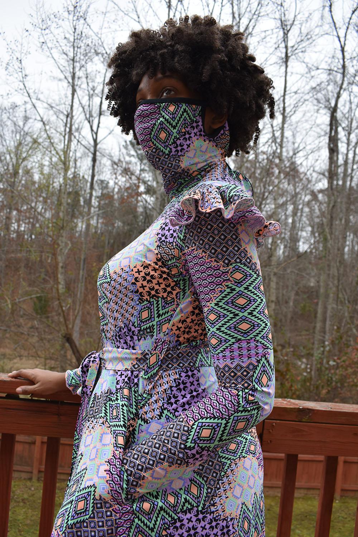 Corona's Mask Dress Size XXS to 3X Adults PDF Pattern