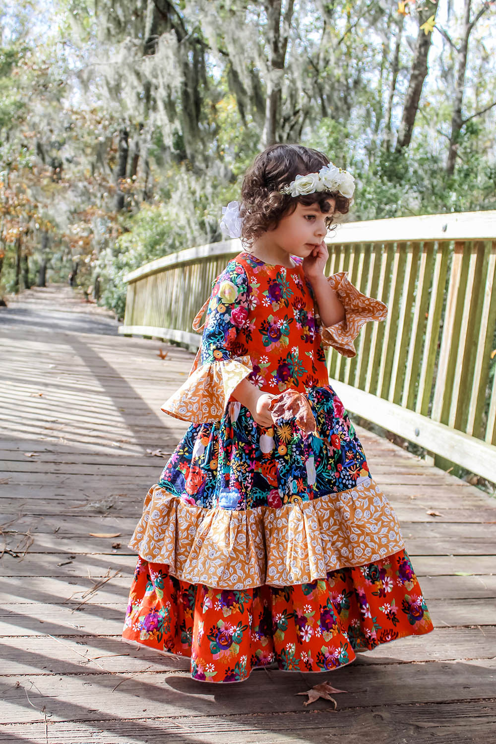Bohemia's Maxi Dress Sizes 2T to 14 Kids PDF Pattern