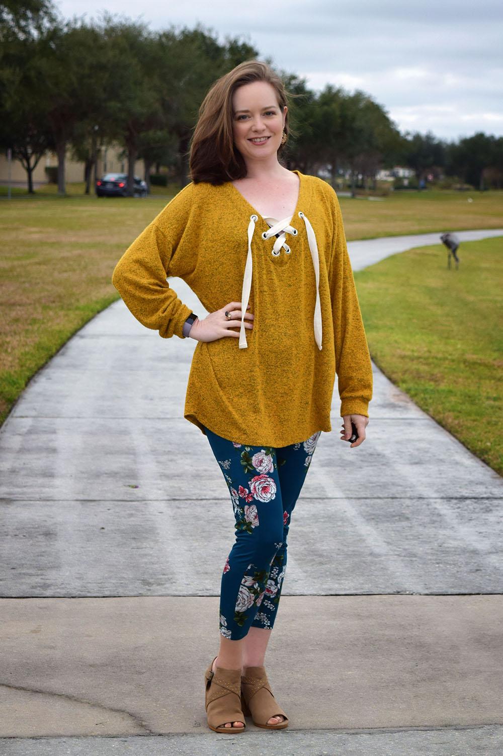 Lisette's Lace-Up Sweater Sizes XXS to 3X Adults PDF Pattern