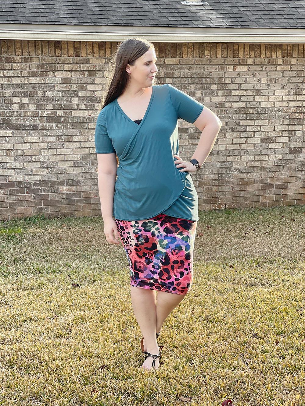Soleil's Wrapped Shirt Sizes XXS to 3X Adults PDF Pattern
