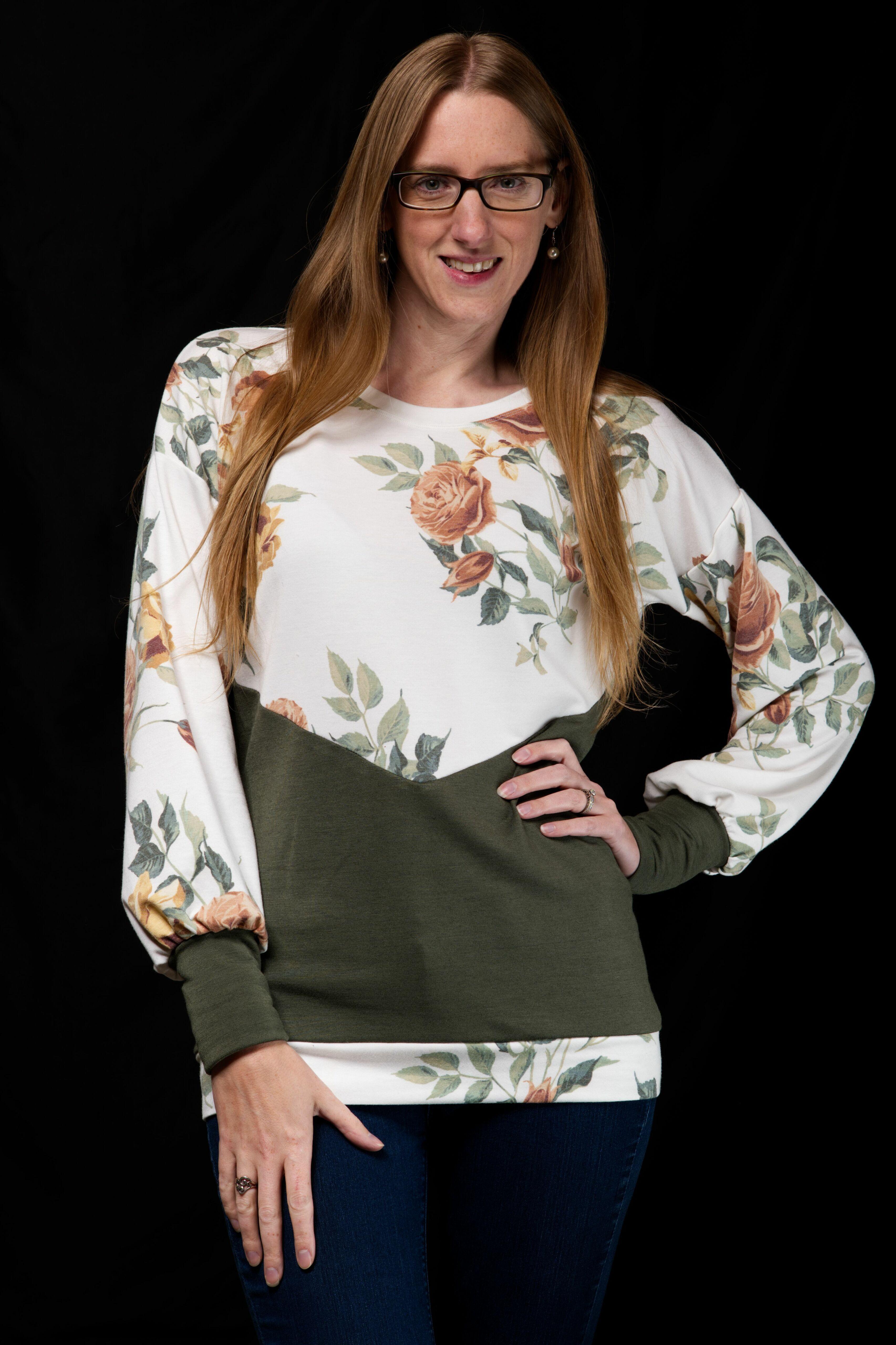Valley's Top, Tunic Dress, Midi and Maxi Sizes XXS to 4X Adults PDF Pattern