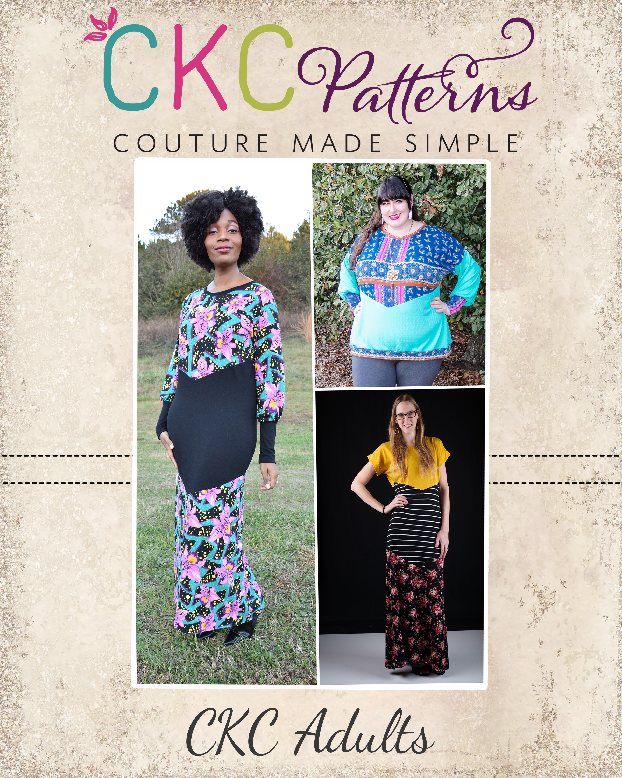 Valley's Top, Tunic Dress, Midi and Maxi Sizes XXS to 4X Adults PDF Pattern