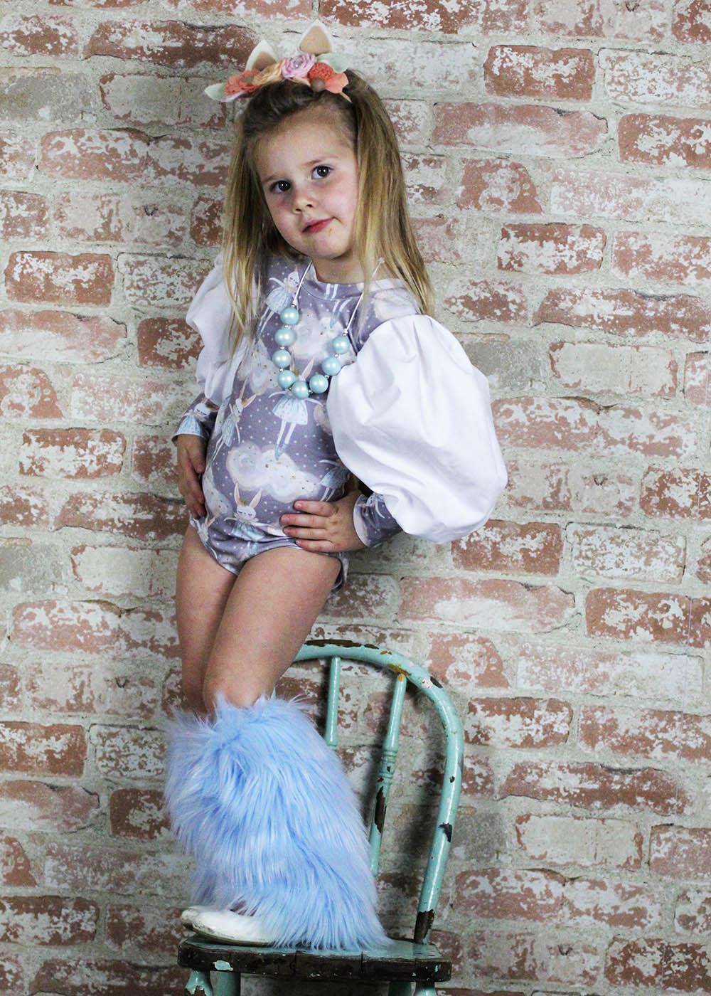 Cuba's Statement Sleeve Bodysuit Sizes 2T to 14 Kids PDF Pattern
