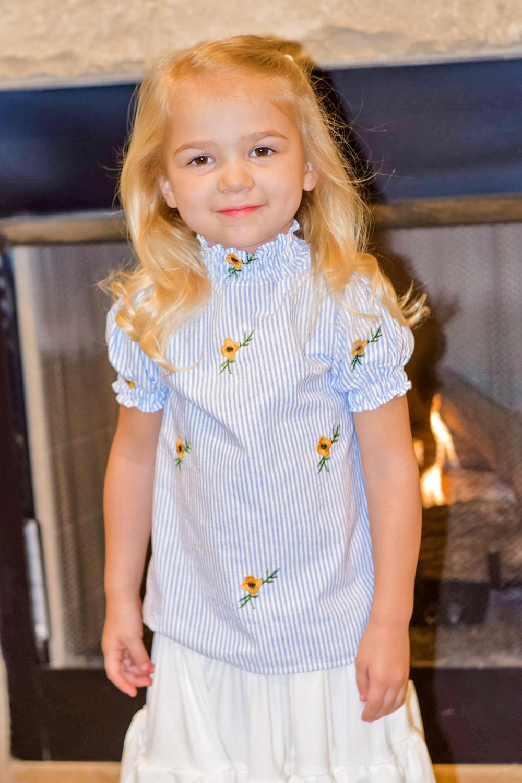 Griselda's Shirred High Neck Blouse Sizes 2T to 14 Kids PDF Pattern