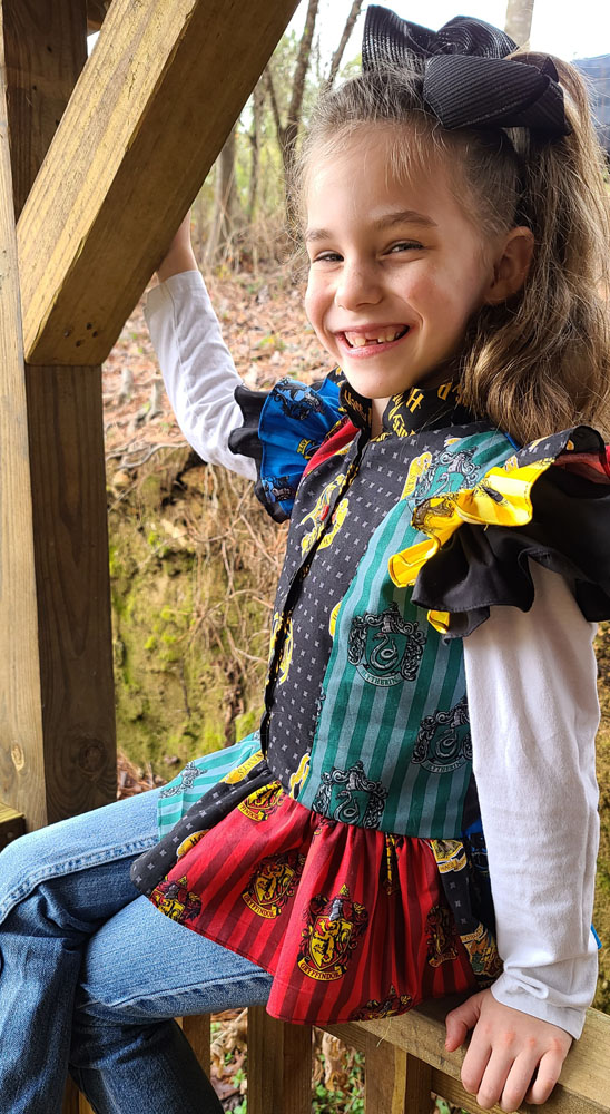Florence's Tiered Petticoat Dress and Top Sizes 2T to 14 Kids PDF Pattern