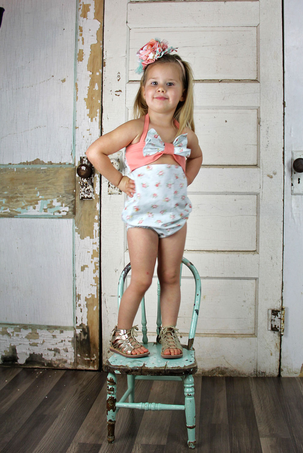 Orchid's Bow Romper Sizes NB to 4T Kids PDF Pattern