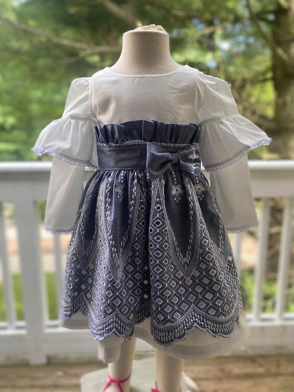 Esperanza's Ruffle Easter Dress Sizes 2T to 14 Kids PDF Pattern