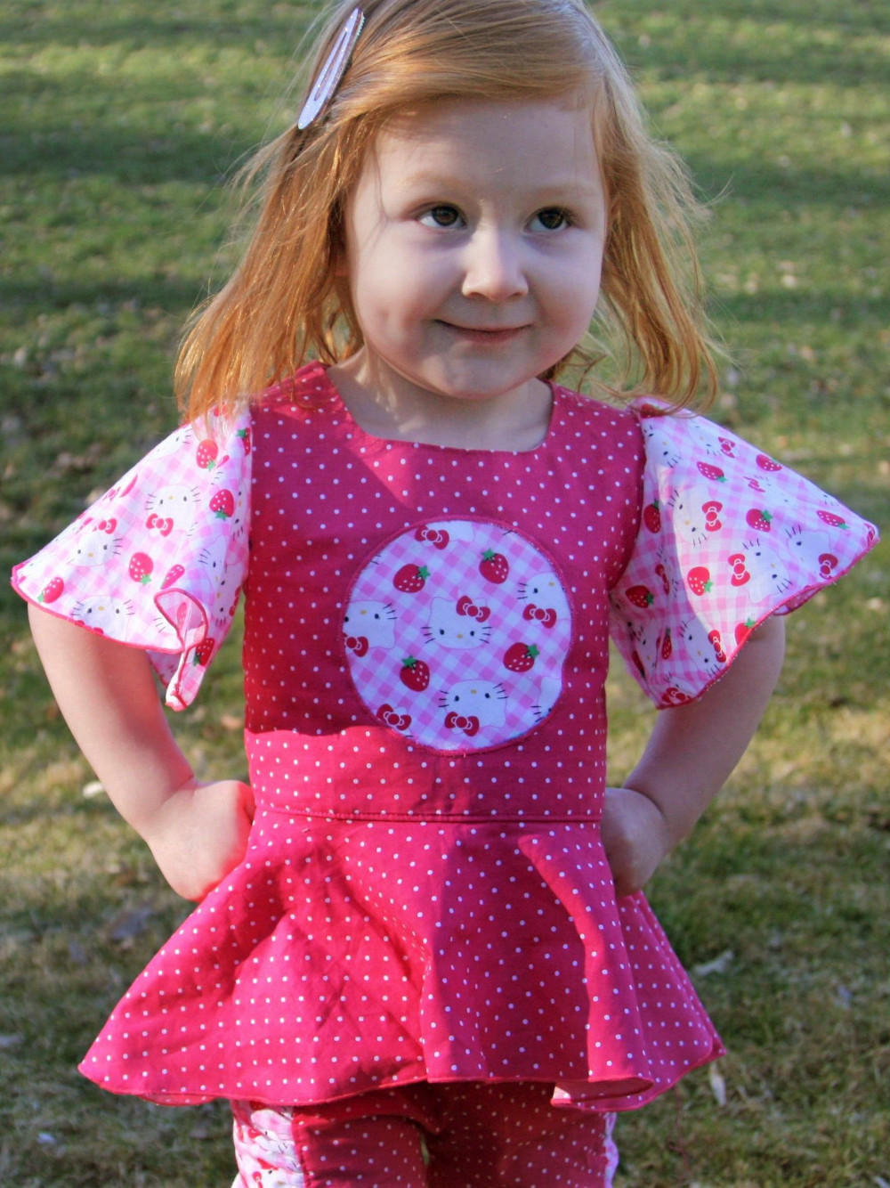 Dorothy's Reverse Appliqué Top and Dress Sizes 2T to 14 Kids PDF Pattern