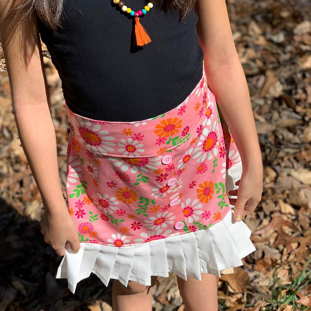 Estonia's Pleated Skirt Sizes 2T to 14 Kids PDF Pattern