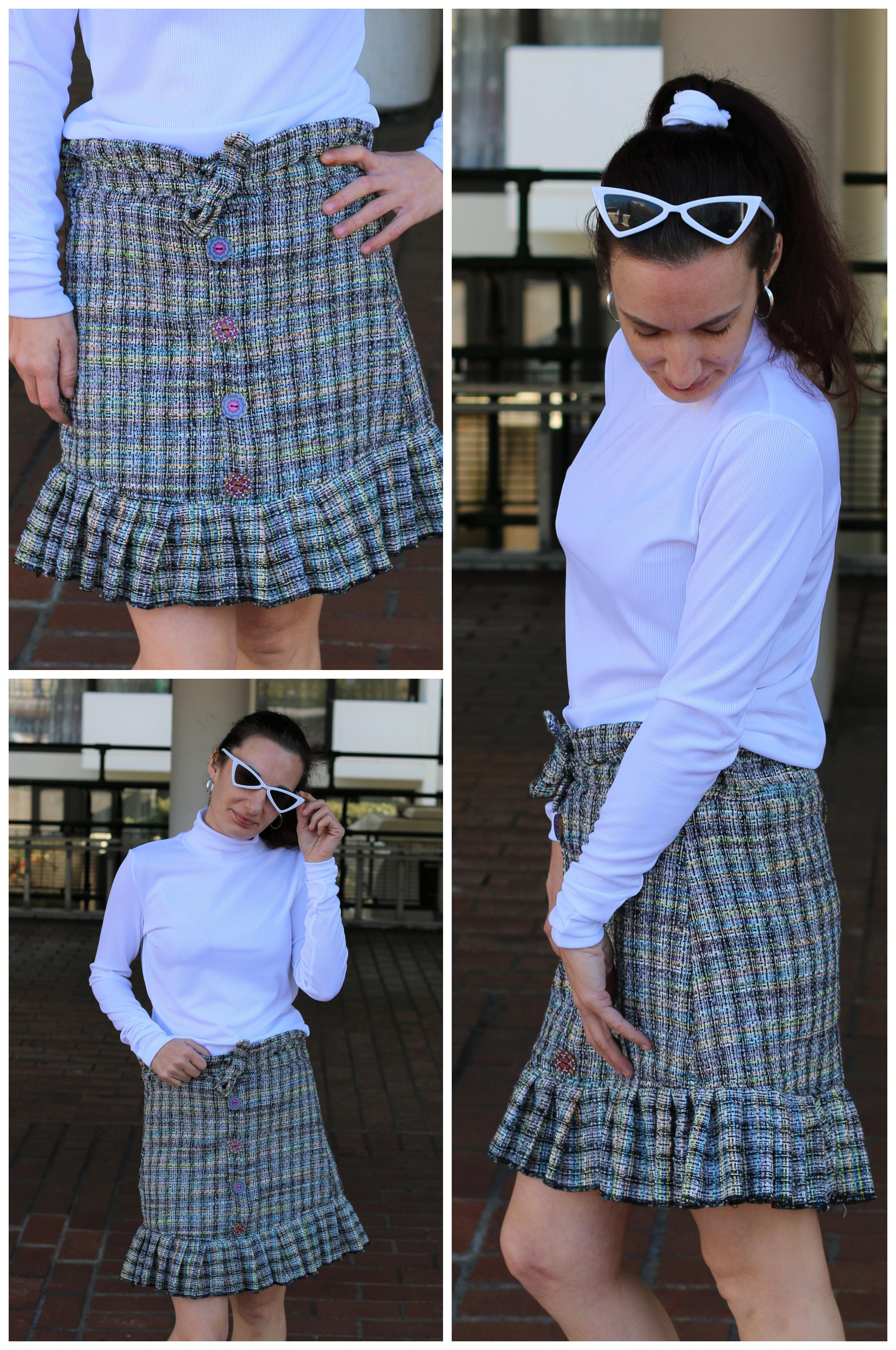 Estonia's Pleated Skirt Sizes XXS to 3X Adults PDF Pattern