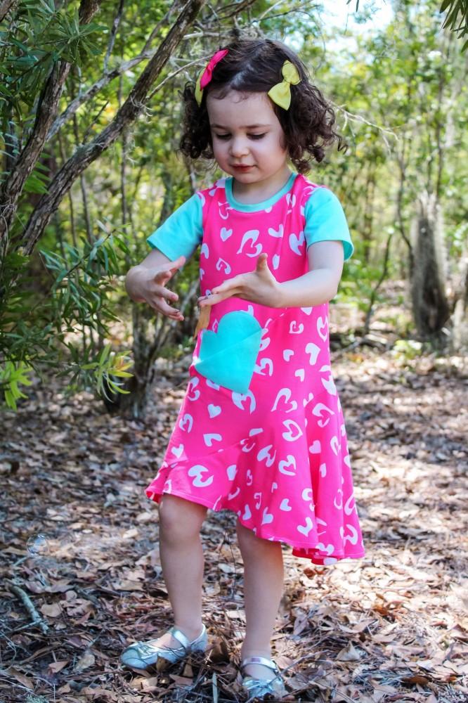 Leigh's Embellished Pocket Dress Sizes 2T to 14 Kids PDF Pattern