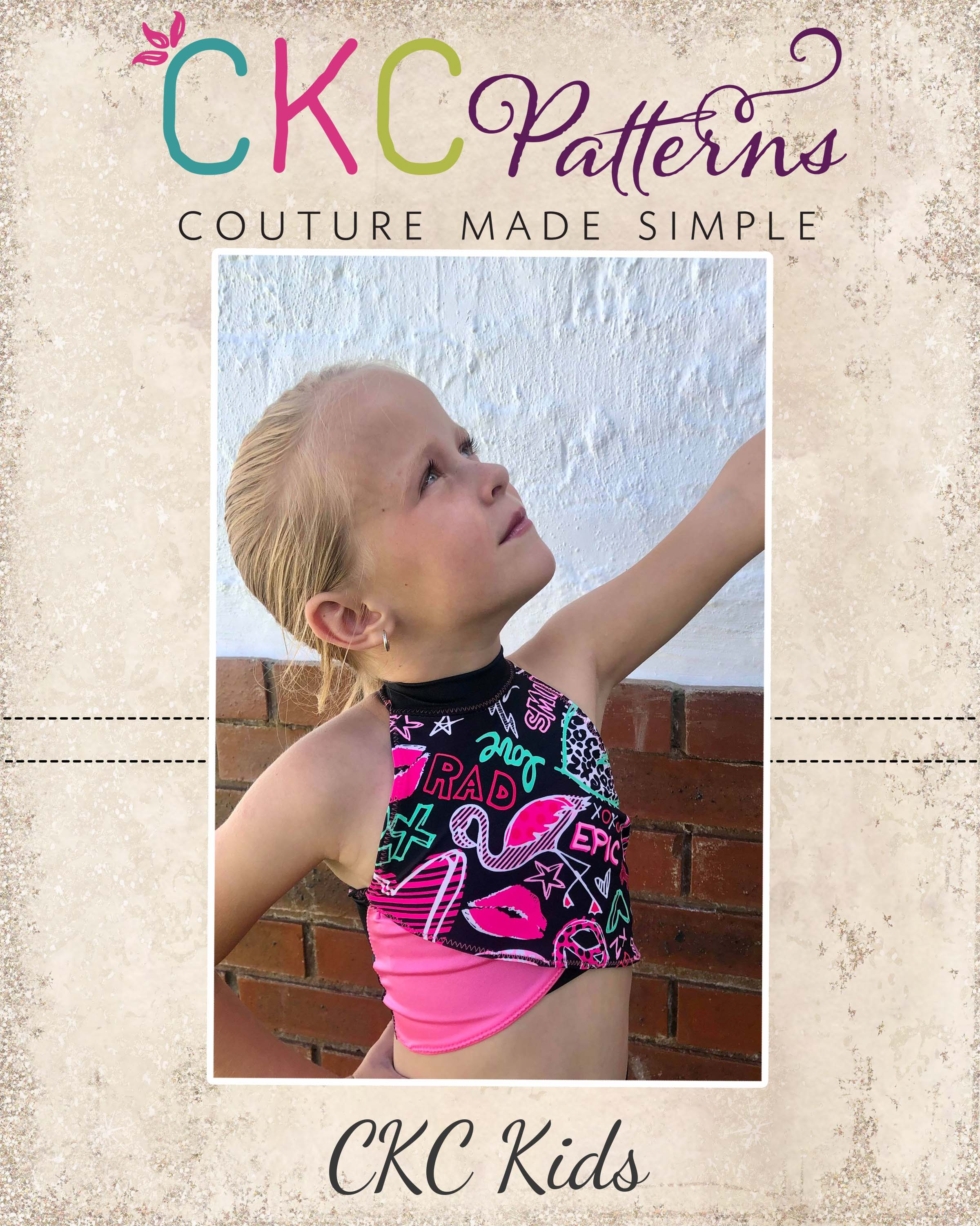 Temple's Dance Top Sizes 2T to 14 Kids PDF Pattern