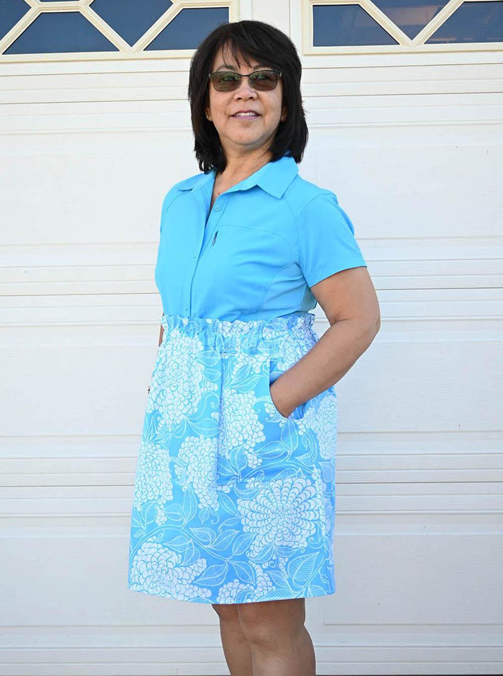 Papaya's Paperbag Waist Skirt Sizes XXS to 3X Adults PDF Pattern