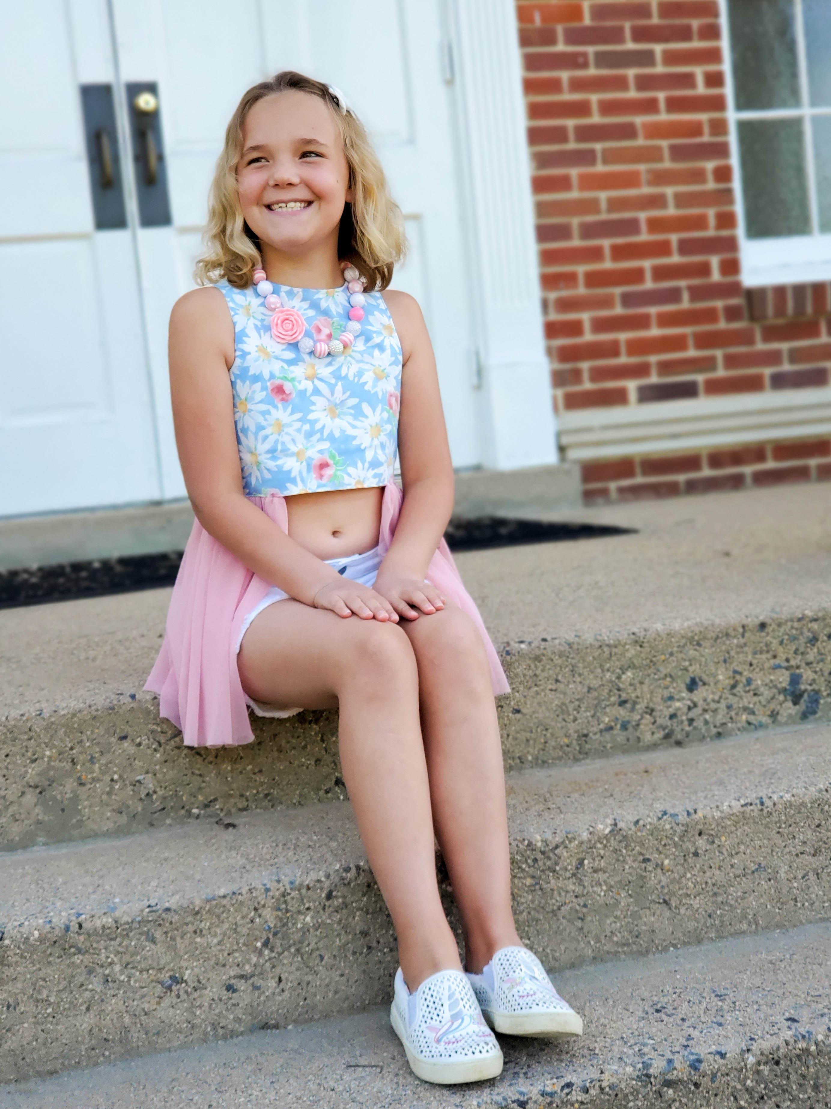 Supreme's Sassy Top Sizes 2T to 14 Kids PDF Pattern