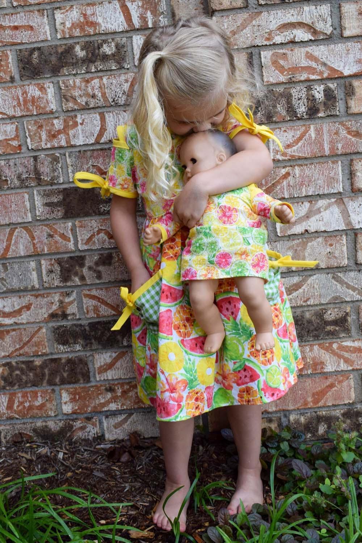 Punky's Peekaboo Top & Dress Sizes 2T to 14 Kids and Dolls  PDF Pattern