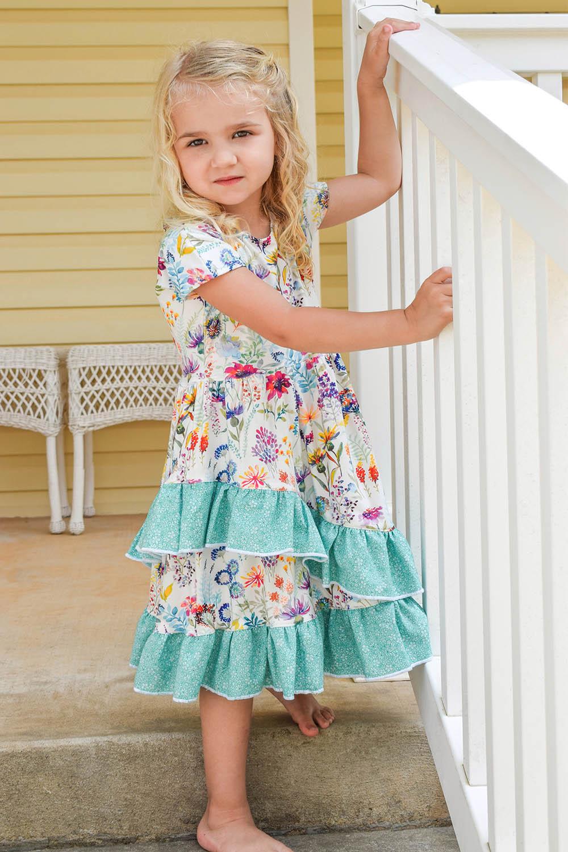 Westyn's Knit and Woven Dress, Midi and Maxi Sizes 2T to 14 Kids PDF Pattern