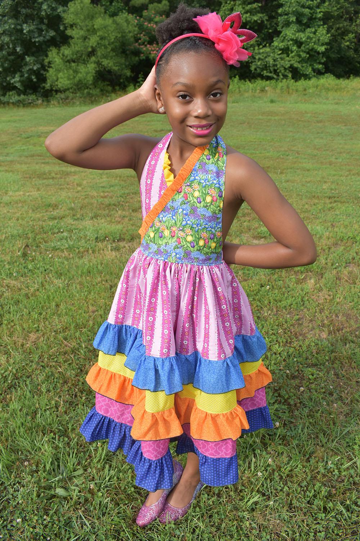 Marie's Little Ruffle Dress Sizes 2T to 14  Kids  PDF Pattern